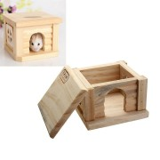 Small Animal Playhouse Wooden Hanging Ladder Seesaw Swing Rat Hamster Parrot