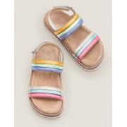 Mini Sandales matelassées arc-en-ciel MUL Fille Boden, Multi - 28