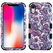 Funda Case Iphone XR Doble protector Uso Rudo Tuff - Flores