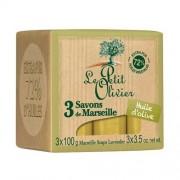 Le Petit Olivier Săpun Marsilia cu ulei de măsline (Marseille Soaps) 3 x 100g