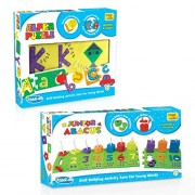 Imagimake Kiddi-do Multi-Activity Set (2 Years+)- Learn Alphabets (A-Z) ,Numbers (1-10) and Shapes with Self Correcting Puzzle and Game- Improves Verbal, Analytical and Motor Skills – 6 to 10 mm Foam (Multicolor)