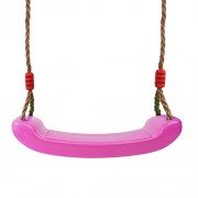 Generic Outdoor Swing Set 4CM Thick Seat with Adjustable Ropes Playground Accs Pink