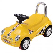 Costzon Kids Ride On Push Car, Toddler Scooter with Sound & Light Christmas Gift (Yellow)