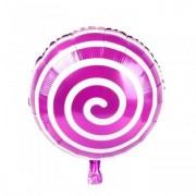 Balon folie acadea / lollipop roz 45cm