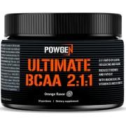 PowGen Ultimate BCAA 2:1:1 BCAA polvo con magnesio y zinc Regeneración y crecimiento muscular Sabor a naranja 174 g de polvo (5,8 g por porción)