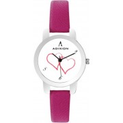ADIXION 9421SL26 New Rani Pink Leather Strap Watch - For Women
