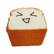Leyouyou520 Jumbo Kawaii Toast Soft Squishy Expression Card Cell Phone Holder Hand Pillow
