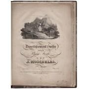 Divertissement Suisse pour le Piano Forte par J. Moscheles. Propriété des Editeurs. Prix: 6 fr. MOSCHELES, Ignaz (1794-1870) [Buono] [Rilegato]