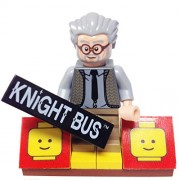 "Minifigure Packs: Lego Harry Potter Bundle ""(1) Knight Bus Ernie Prang"" ""(1) Figure Display Base"" ""(1) Figure Accessory (Knight Bus Placard)"""
