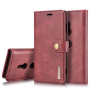 DG.Ming 2-in-1 Sony Xperia XZ3 Wallet Leather Case - Red