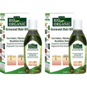 Indus Valley BIO Organic Growout Hair Oil (Pack of 2)