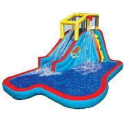 Spring & Summer Toys Banzai Slide N Soak Splash Park Constant Air Water Slide (Nearly 8ft Tall and Includes Blower Motor)