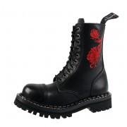 Stiefel Boots STEADY´S - 10 dírkové - Rot rose - STE/10/H_red rose