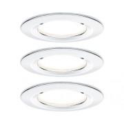 Spoturi incastrabile fixe Nova GU10 6,5W Ø78 mm IP44, becuri LED cu 3 trepte de instensitate incluse, crom, 3 bucati