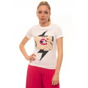 Guess T-shirt Bianco Cotone Donna