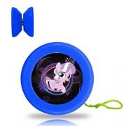 New Style My Little Pony YoYo Ball Professional Responsive Yo-Yo Bearing Spinning Ball String Spin Toys-Blue