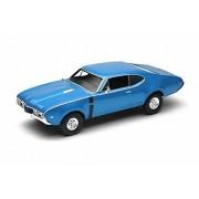 Welly 1968 Oldsmobile 442, Blue - 24024WBU 1/24 Scale Diecast Model Toy Car