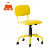 Cadeira de Escritório Giratória Color Pistão a Gás Corano Amarelo