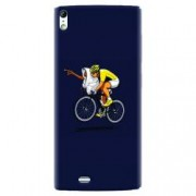 Husa silicon pentru Allview X2 Soul ET Riding Bike Funny Illustration