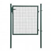 [pro.tec] Puerta de jardín 150x106 verde de acero puerta valla