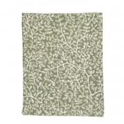 Dille&Kamille Chemin de table, coton bio, vertà motif de rameaux, 50 x 150 cm