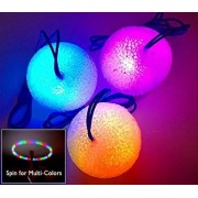 Styr-O-Lites Light-up LED Glow Ball Necklace (3-pack) by Glimmers Inc.
