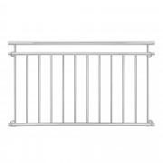 Преграда за балкон, тераса [casa.pro]® 90 x 156 cm, Неръждаема стомана
