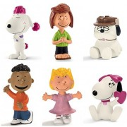 Schleich Peanuts Set of 6 Friends: Fifi 22053, Olaf 22050, Peppermint Patty 22052, Franklin 22011, Sally 22009, Belle 22030, Quality Plastic Toys Packaged together Ready to Give.