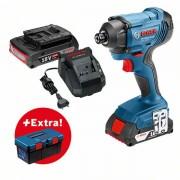 Akumulatorski udarni odvrtač Bosch GDR 180-LI + kutija za alat PRO (0615990L2B)