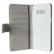 Gear plånboksfodral med kortplats vit, Samsung Galaxy S8