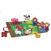 Ks Kids Farmos játszószőnyeg, állatfigurákkal