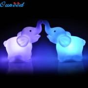 Ouneed New 2Pcs Elephant Color Changing LED Night Light Lamp Wedding Party Decorative