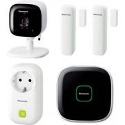Panasonic Kx-Hn6012jtw Kit Videosorveglianza Wireless Senza Fili Hub + 1 Smart Plug + 2 Sensori Porte / Finestre + 1 Telecamera Per Interni - Smart Home Kx-Hn6012jtw