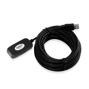 Eminent USB Signal booster cable 10m Black EM1020