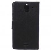 Capa tipo Carteira de Couro para Huawei Y360 - Preto