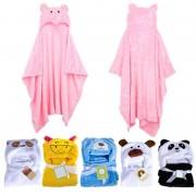ProductsPro Baby Badjas Leuke Dier Panda Flanel Cartoon Baby Kid's Hooded Badhanddoek Peuter Dekens 6 Dieren met Haak voor optioneel MyXL - 4 badhanddoek voor k