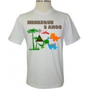 Camiseta Personalizada Floresta Dinossauros - Coleção Aniversários