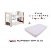 Patut lemn Little Bunny Capuccino Klups Saltea MyDreams 8