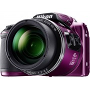Nikon Coolpix B-500 Digitale camera 16 Mpix Zoom optisch: 40 x Lila Full-HD video-opname, Klapbaar display, Bluetooth