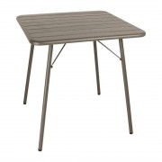 Bolero Slatted Square Steel Table Coffee 700mm