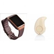 Zemini DZ09 Smart Watch and Kaju Bluetooth Headphone for SAMSUNG GALAXY S III NEO+(DZ09 Smart Watch With 4G Sim Card Memory Card| Kaju Bluetooth Headphone)