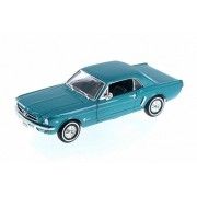 Welly 1964 Ford 1/2 Mustang Coupe, Green - 22451WGN 1/24 Scale Diecast Model Toy Car