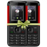 Combo of IKall K5310 (Dual Sim 1.8 Inch Display 800 Mah Battery Made In India Black-Red)