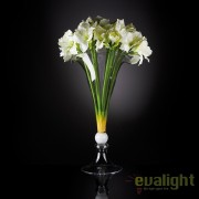 Aranjament floral elegant din crini de camera albi, VULCANO IVORY AMARYLLIS, 110cm 1141182.95