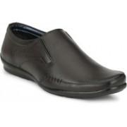 BIG JUNIOR Partywear Formal Shoes Slip On For Men(Brown)