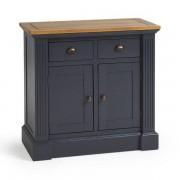 Oak Furnitureland Rustic Solid Oak and Painted Sideboards - Small Sideboard - Highgate Range - Oak Furnitureland