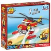 Set de construit Elicopter pompieri 300 piese - Cobi