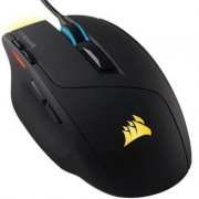Mишка corsair gaming sabre, 4 zone rgb, 10000 dpi, 16.8m color, optical gaming mouse, usb wired, черен, ch-9303011-eu