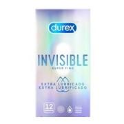 Invisible extra lubrificado preservativos 12unidades - Durex