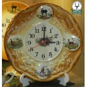 Ceas de perete ceramic pictat -Wall-clock I - 26cm